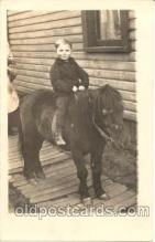 cop001012 - Child, Children on Pony, Donkey Postcard Post Card