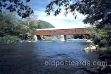 cou001002 - West Cornwall, Conn. USA Covered Bridge Bridges, Postcard Post Card