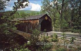 cou001004 - Bull's Bridge, Conn USA Covered Bridge Bridges, Postcard Post Card