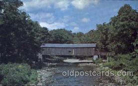 cou001006 - Westchester Conn. USA, Route 16 Covered Bridge Bridges, Postcard Post Card