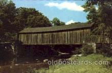 cou001007 - Salmon River Conn. USA Covered Bridge Bridges, Postcard Post Card