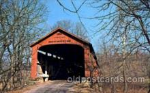 cou001010 - Red Bridge, Parke County, Indiana, USA Covered Bridges, Postcard Post Card