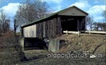 cou001013 - Ashtabula County, Ohio #9, USA Covered Bridge Bridges, Postcard Post Card