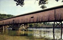 cou001033 - Harpersfield, Ashtabula, Ohio, USA Covered Bridge Bridges, Postcard Post Card