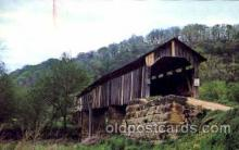 cou001036 - Monroe County #18, Ohio Covered Bridge Bridges, Postcard Post Card