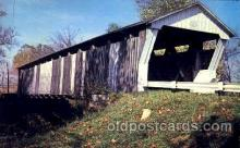 cou001043 - Canal Winchester, Ohio, USA Covered Bridge Bridges, Postcard Post Card