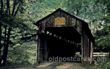 cou001048 - Columbiana County, Lisbon, Ohio, USA Covered Bridge Bridges, Postcard Post Card