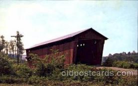 cou001063 - Athens County, Near Glouster, Ohio, USA Covered Bridge Bridges, Postcard Post Card