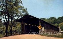 cou001071 - Harpersfield, Ohip, USA built 1848, USA Covered Bridge Bridges, Postcard Post Card