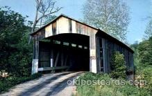 cou001074 - Parke County, Indiana, USA Covered Bridge Bridges, Postcard Post Card