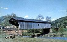cou001078 - Brush Creek Bridge, Near Otway, Ohio, USA Covered Bridge Bridges, Postcard Post Card