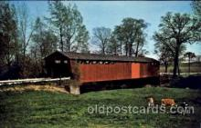 cou001080 - Parker Bridge, Wyandot County, ohio, USA Covered Bridge Bridges, Postcard Post Card