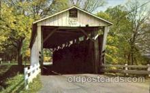 cou001081 - Everett Road, Boston Township, Ohio, USA Covered Bridge Bridges, Postcard Post Card
