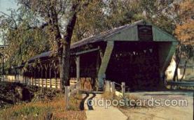 cou001082 - Newton Falls Ohio, Trumbull County, Ohio, USA Covered Bridge Bridges, Postcard Post Card