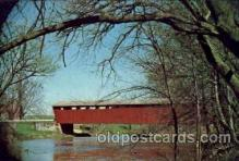 cou001085 - Wyandot County Ohio, USA, Parker Bridge. Covered Bridge Bridges, Postcard Post Card