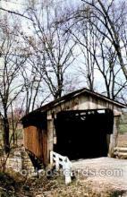 cou001090 - Macklin House, Fairfield, CO. Near Baltimore, Ohio, USA Covered Bridge Bridges, Postcard Post Card