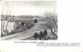cou001101 - Rock's Bridge, Haverhill, Mass., USA Covered Bridge, Bridges, Postcard Post Card