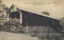 cou001104 - Ashuelot River, Westport, Swanzey, New Hampshire, NH USA Covered Bridge, Bridges, Postcard Post Card