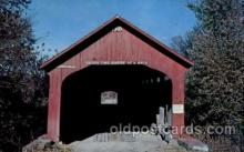 cou100001 - Roseville Bridge Coxville, IN USA Covered Bridge, Bridges, Post Card Post Card