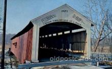 cou100009 - Mecca Bridge, Parke Co., IN USA Covered Bridge, Bridges, Post Card Post Card
