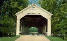 cou100010 - Sim Smith Bridge, Rockville, Indiana  Covered Bridge, Bridges, Post Card Post Card