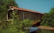 cou100015 - McAllister Bridge, Rockville, IN USA Covered Bridge, Bridges, Post Card Post Card