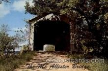 cou100016 - McAllister Bridge, Rockville, IN USA Covered Bridge, Bridges, Post Card Post Card
