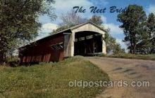cou100018 - Neet Bridge, Rockville, Indiana USA Covered Bridge, Bridges, Post Card Post Card