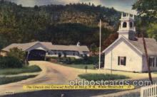 cou100055 - Stark, NH in White Mountains USA  Church & Covered Bridge
