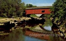 cou100104 - Turkey Run State Park, Parke Co., IN USA Narrows Covered Bridge