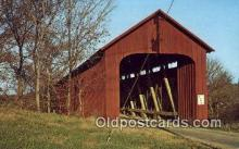cou100122 - James Bridge, Jennings Co, IN USA Covered Bridge Postcard Post Card Old Vintage Antique