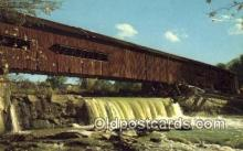cou100124 - Bridgeton, Parke Co, IN USA Covered Bridge Postcard Post Card Old Vintage Antique