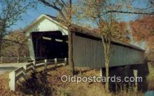 cou100128 - Darlington, IN USA Covered Bridge Postcard Post Card Old Vintage Antique
