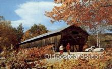 cou100130 - Old Covered Bridge, USA Covered Bridge Postcard Post Card Old Vintage Antique
