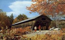 cou100131 - Old Covered Bridge, USA Covered Bridge Postcard Post Card Old Vintage Antique