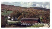cou100133 - Bridge at the Green, West Arlington, VT USA Covered Bridge Postcard Post Card Old Vintage Antique