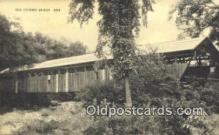 cou100135 - Old Covered Bridge, USA Covered Bridge Postcard Post Card Old Vintage Antique