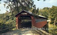cou100136 - Old Covered Chiselville Bridge, East Arlington, VT USA Covered Bridge Postcard Post Card Old Vintage Antique