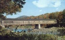 cou100142 - Covered Bridge, West Dummerston, VT USA Covered Bridge Postcard Post Card Old Vintage Antique