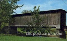 cou100143 - Covered Railroad Bridge, Cambridge Junction, VT USA Covered Bridge Postcard Post Card Old Vintage Antique
