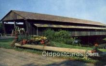 cou100144 - Covered Bridge, Shelburne, VT USA Covered Bridge Postcard Post Card Old Vintage Antique