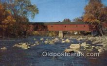 cou100151 - Covered Bridge, Sharon, CT USA Covered Bridge Postcard Post Card Old Vintage Antique