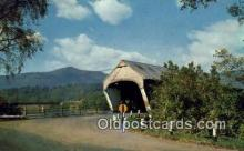cou100152 - Covered Bridge, Mt. Ascutney, VT USA Covered Bridge Postcard Post Card Old Vintage Antique