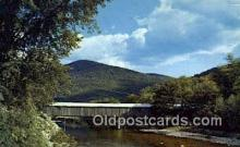 cou100154 - Old Scott Bridge, VT USA Covered Bridge Postcard Post Card Old Vintage Antique
