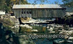 cou100155 - Mill Bridge, Tunbridge, VT USA Covered Bridge Postcard Post Card Old Vintage Antique