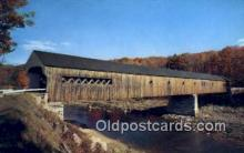 cou100156 - Old Covered Bridge, West Dummerston, VT USA Covered Bridge Postcard Post Card Old Vintage Antique