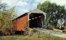 cou100158 - Old Covered Bridge, PA USA Covered Bridge Postcard Post Card Old Vintage Antique