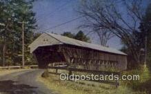 cou100160 - Covered Bridge, Conway, NH USA Covered Bridge Postcard Post Card Old Vintage Antique