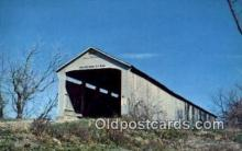 cou100161 - Adams, Parke Co, USA Covered Bridge Postcard Post Card Old Vintage Antique