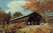 cou100162 - Old Covered Bridge, USA Covered Bridge Postcard Post Card Old Vintage Antique
